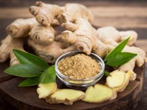 Ginger is a warming spice that is excellent for aiding digestion.