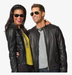A leather jacket will automatically add a trendy edge to your outfit and can be easily styled with a white T-shirt and a pair of straight leg jeans to create an effortless and chic look.