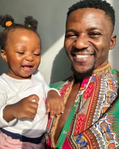Actor and model Joe Kazadi serves us adorable pictures with his daughter Omotola