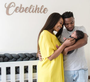 Zola Nombona And Thomas Gumede with bundle of joy Baby Cebelihle