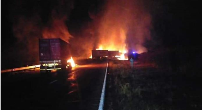 Nine Trucks Petrol-Bombed On N3 And R103 In Gauteng-SurgeZirc SA