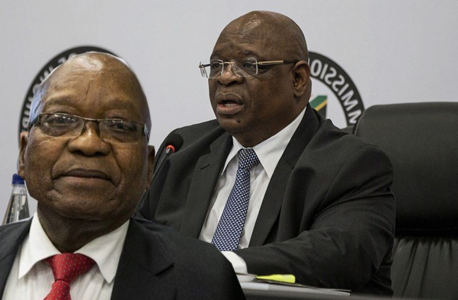 Contained in this picture Jacob Zuma And Raymond Zondo-SurgeZirc SA