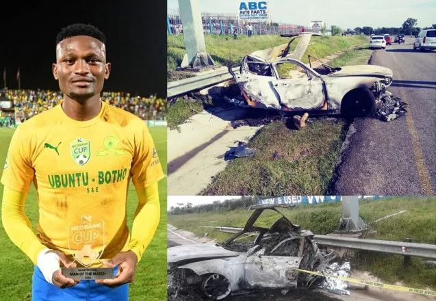 Here's The Horrific Car Crash Scene Where Sundow's Motjeka Madisha Died-SurgeZirc SA