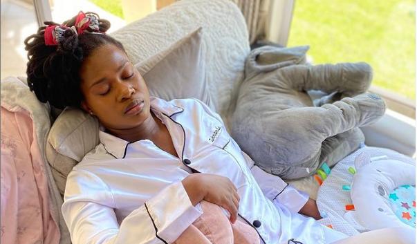 Zenande Mfenyane Fed Up With Her Baby Always Waking Up Early Morning-SurgeZirc SA
