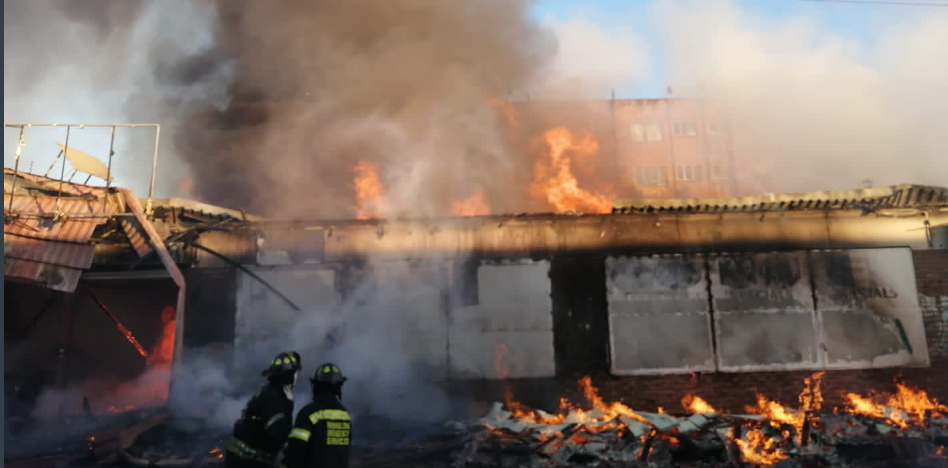 Seven Shops Gutted During Brakpan Fire (Video)-SurgeZirc SA