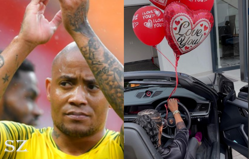 SA Footballer Dino Ndlovu Gifts Wife With Porsche 911 With 100 Roses For Valentine's Day-SurgeZirc SA