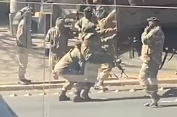 Look! Video of Unfit Soldier Battling To Climb Into Truck Goes Viral-SurgeZirc SA