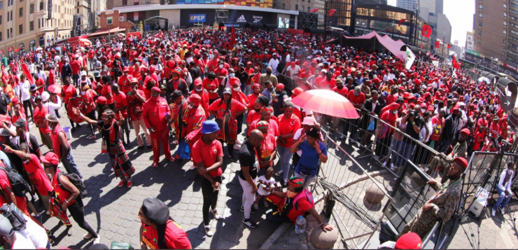 Gandhi Square Filling Up With EFF Supporters As Party Launches Elections Manifesto-SurgeZirc SA